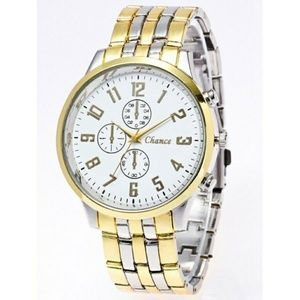 Other - Stainless Steel Business Quartz Watch - Gold And W